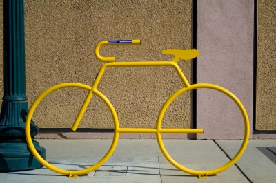 Yellow Bike Rack