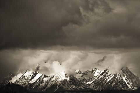 Teton Ranges in Black and White